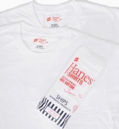 <アイルミネ> Hanes×SHIPS AUTHENTIC PRODUCTS: 2パック/Tシャツ Japan Fit■画像