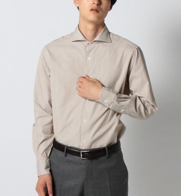 【シップス/SHIPS】 SD: ウォッシュド オックスフォード ロンドンストライプ ホリゾンタルカラーシャツ [送料無料]
