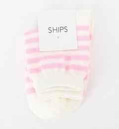 【シップス/SHIPS】 SHIPS KIDS:ベビー ボーダー ソックス SS(12?14cm) [3000円(税込)以上で送料無料]