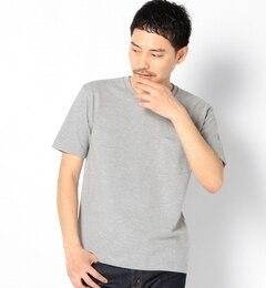 """【シップス/SHIPS】 SA: """"カナダ製"""" ピケ/Vネック ポケットTシャツ(グレー) [送料無料]"""