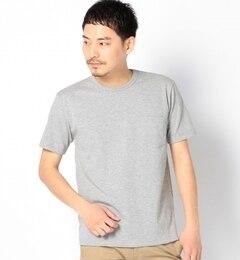 """【シップス/SHIPS】 SA: """"カナダ製"""" クルーネック ポケットTシャツ(グレー) [送料無料]"""