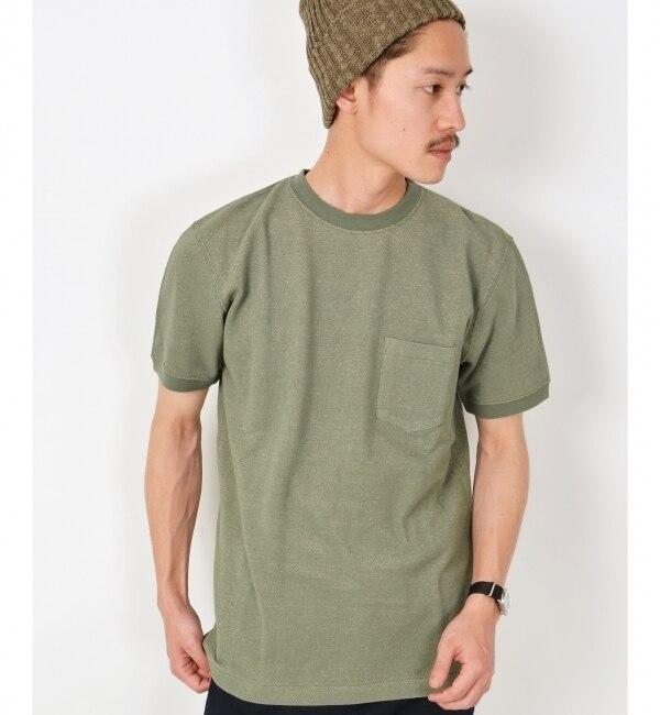 【シップス/SHIPS】 SC: SHIPS(シップス) バーズアイ 鹿の子 ポケット Tシャツ [送料無料]