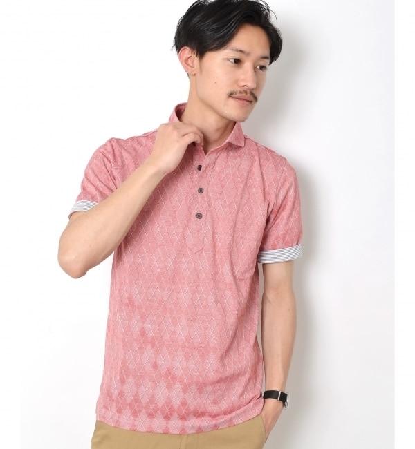 【シップス/SHIPS】 SC: SHIPS(シップス) 16SS ジャガード モチーフ ワイドカラー ポロシャツ [送料無料]