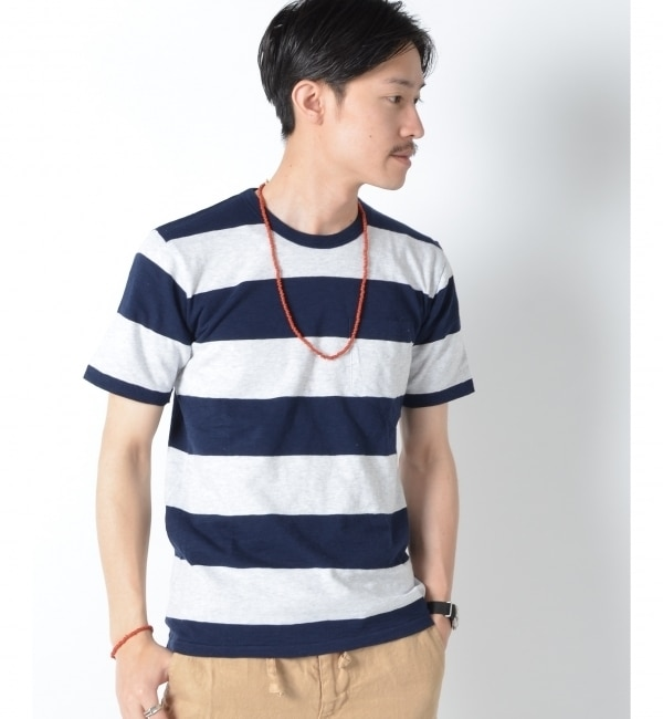 【シップス/SHIPS】 SA: ヘザー ボーダー クルーネック Tシャツ [送料無料]