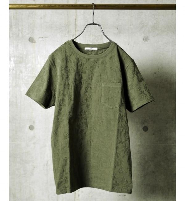 【シップス/SHIPS】 SC: SHIPS(シップス) モチーフ ジャガード ポケット Tシャツ [送料無料]