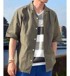 """【シップス/SHIPS】 SC: SHIPS(シップス) コットン リラックス オープンカラーシャツ""""5分袖"""" [送料無料]"""