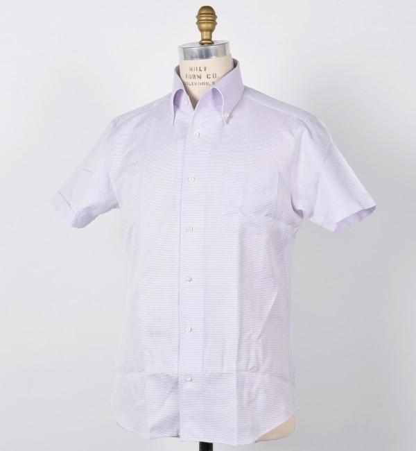 【シップス/SHIPS】 SD: ドビーソリッド イタリアンボタンダウン (半袖) シャツ [送料無料]