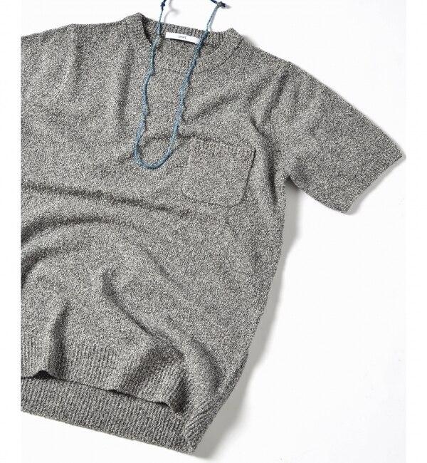 【シップス/SHIPS】 SC: SHIPS(シップス) 9ゲージ パイルニット ポケット Tシャツ [送料無料]