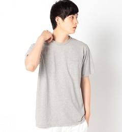 """【シップス/SHIPS】 VELVA SHEEN: クルーネック ポケットTシャツ""""グレー"""" [送料無料]"""