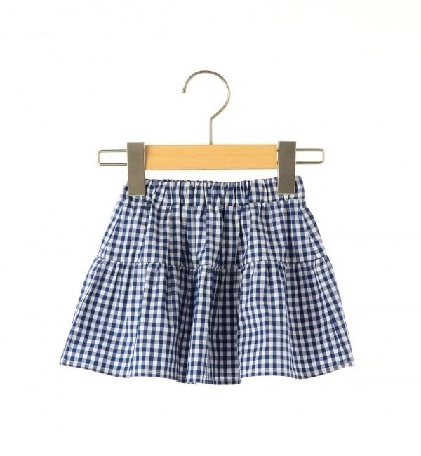 【シップス/SHIPS】 SHIPS KIDS:ベビー ギンガムチェック ティアード スカート [送料無料]