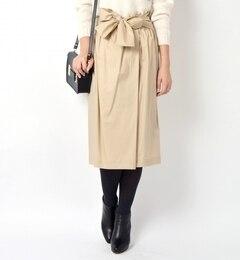 【シップス/SHIPS】タイプライターリボンスカート[送料無料]