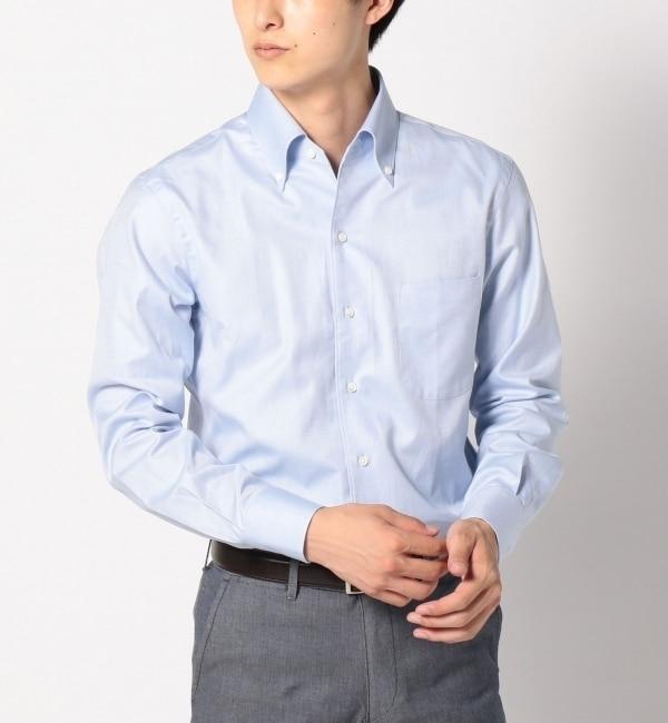 【シップス/SHIPS】 SD: オックスフォード イタリアンボタンダウンシャツ (ブルー) [送料無料]