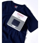 Hanes×SHIPS AUTHENTIC PRODUCTS: ワッフル ショートスリーブ Tシャツ