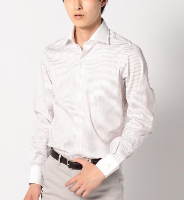 【シップス/SHIPS】 SD: 【ファインフィット】 ロンドンストライプ クレリック ワイドカラーシャツ [送料無料]