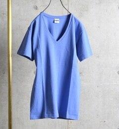 【シップス/SHIPS】 SHIPS JET BLUE: チューブ Vネック Tシャツ [3000円(税込)以上で送料無料]