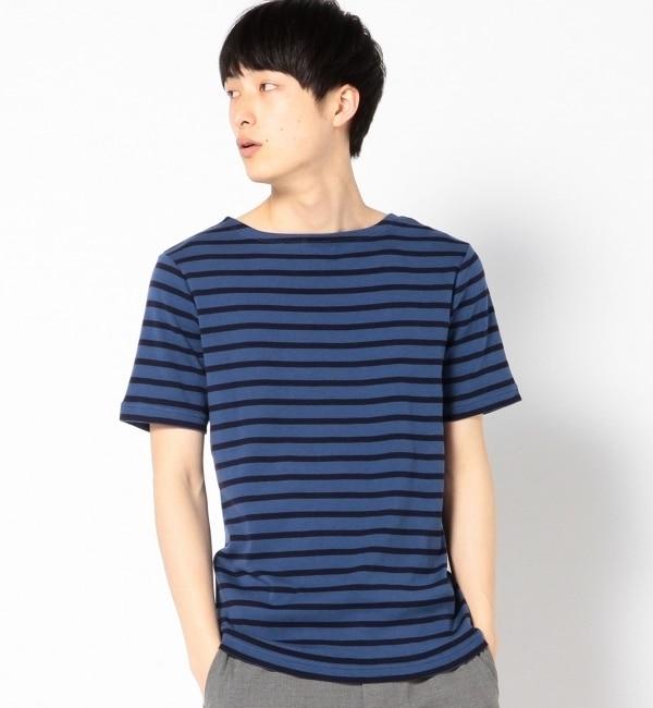 【シップス/SHIPS】 HELTHKNIT: ボーダー/ボートネック Tシャツ [3000円(税込)以上で送料無料]