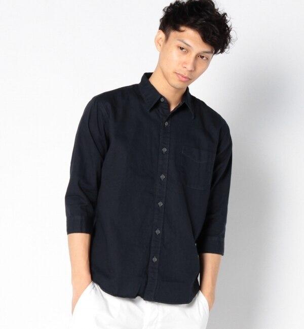 【シップス/SHIPS】 SGS: オックスフォード/ナローレギュラー 7スリーブシャツ [送料無料]