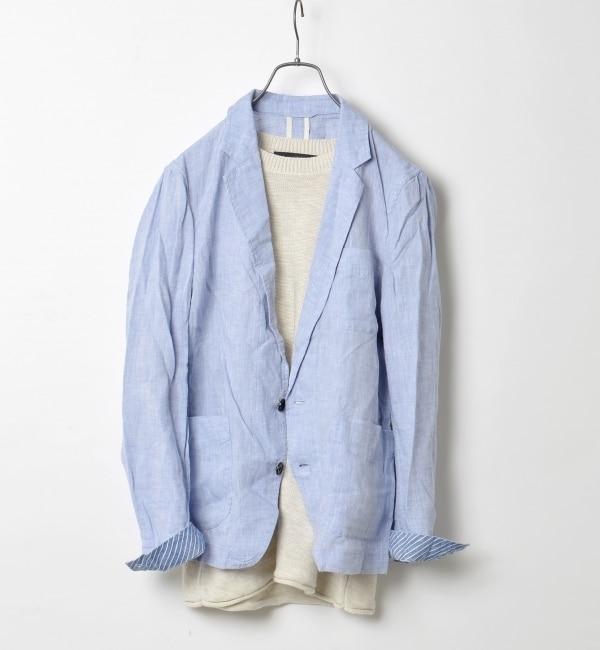 【シップス/SHIPS】 SHIPS JET BLUE: リネン/シャツジャケット 16SS [送料無料]