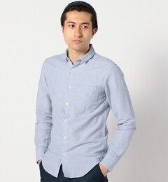 【シップス/SHIPS】 SHIPS JET BLUE: フランダースリネン ワイヤーカラーシャツ [送料無料]