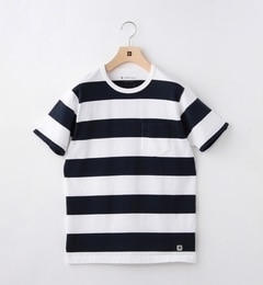 【シップス/SHIPS】Days:ワイドボーダーポケットTシャツ[送料無料]