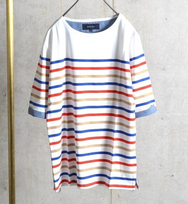 【シップス/SHIPS】 SHIPS JET BLUE: ベーシックボーダーTシャツ 16ss 【5分袖】 [送料無料]