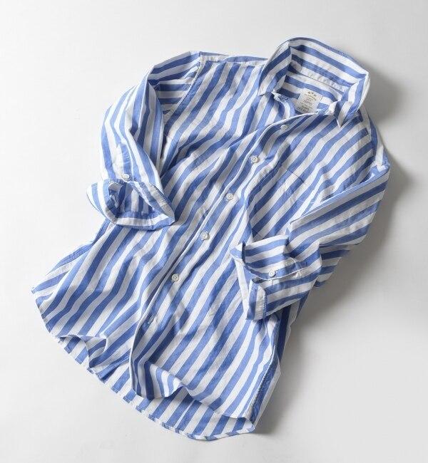 【シップス/SHIPS】 SHIPS JET BLUE: 【COOLMAX】 フランダースリネンシャツ/七分袖 [送料無料]