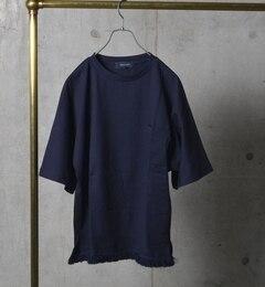 【シップス/SHIPS】 SHIPS JET BLUE: フリンジTシャツ [3000円(税込)以上で送料無料]