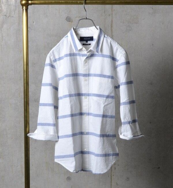 【シップス/SHIPS】 SHIPS JET BLUE: シアサッカー/レギュラーシャツ 16ss [送料無料]