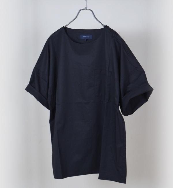 【シップス/SHIPS】 SHIPS JET BLUE: ビッグシルエット プルオーバーシャツ [送料無料]
