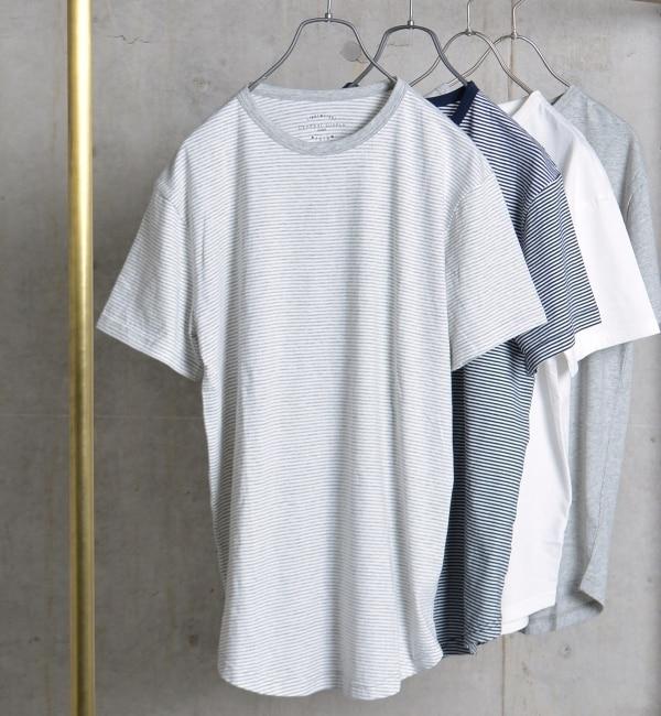 【シップス/SHIPS】 SHIPS GENERAL SUPPLY: ラウンドヘム クルーネック Tシャツ [送料無料]
