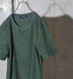 【シップス/SHIPS】 SHIPS JET BLUE: ジャガードパイルTシャツ 16ss [送料無料]