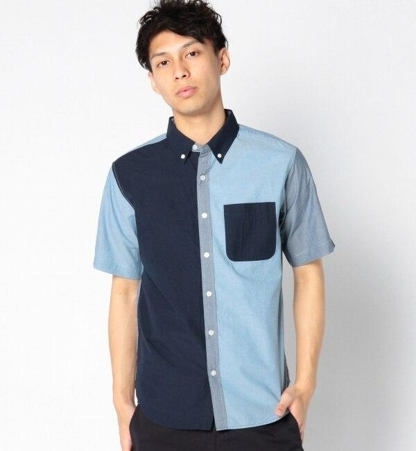 【シップス/SHIPS】 SHIPS JET BLUE: クレイジーパターン/ショートスリーブ BDシャツ [送料無料]