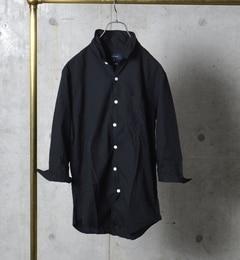 【シップス/SHIPS】SHIPSJETBLUE:ペルヴィアンピマコットン/ワイヤー7スリーブシャツ[送料無料]