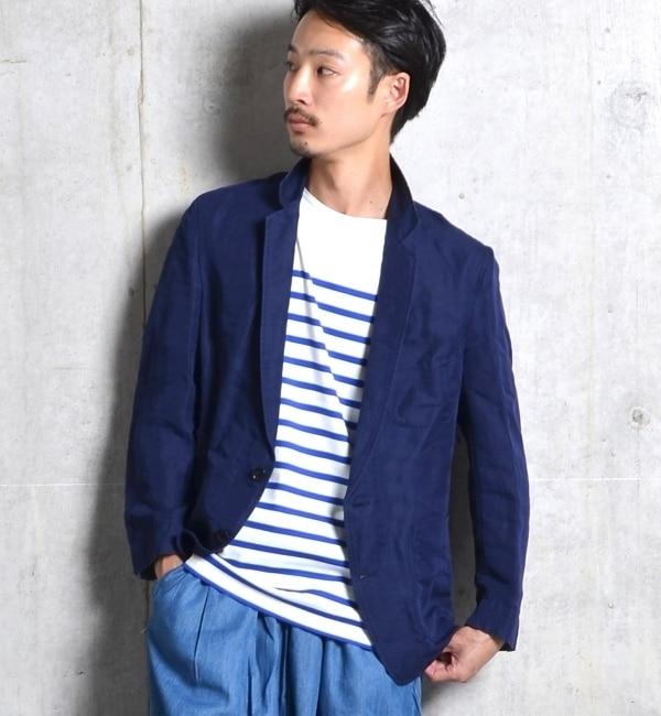 【シップス/SHIPS】 SHIPS JET BLUE: テンセルリネン/7スリーブシャツジャケット [送料無料]