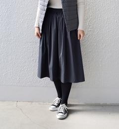 【シップス/SHIPS】SHIPSDaysSTANDARD:ギャザースカート[送料無料]