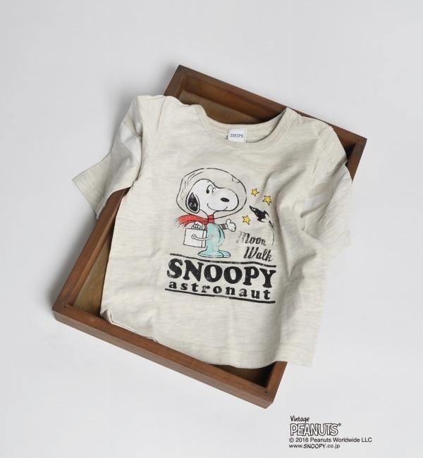 【シップス/SHIPS】 SHIPS KIDS:スヌーピー プリント 7分袖 TEE(100?130cm) [送料無料]