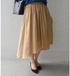 【シップス/SHIPS】アシンメトリーヘムギャザースカート[送料無料]