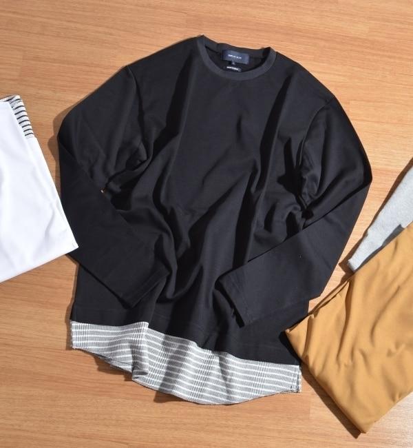 【シップス/SHIPS】 SHIPS JET BLUE: フェイクレイヤードロングスリーブTシャツ [送料無料]