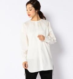 【シップス/SHIPS】RIKACOforSHIPS:タックノーカラーシャツ[送料無料]