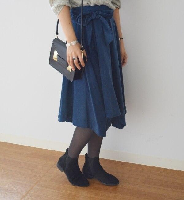 【シップス/SHIPS】 Khaju:イレギュラーヘムスカート [送料無料]