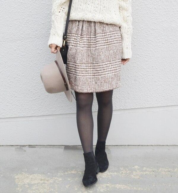 【シップス/SHIPS】 Khaju:ツイードネップスカート [送料無料]
