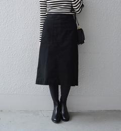 【シップス/SHIPS】 liflattie ships:モールスキン 2ポケット スカート [送料無料]