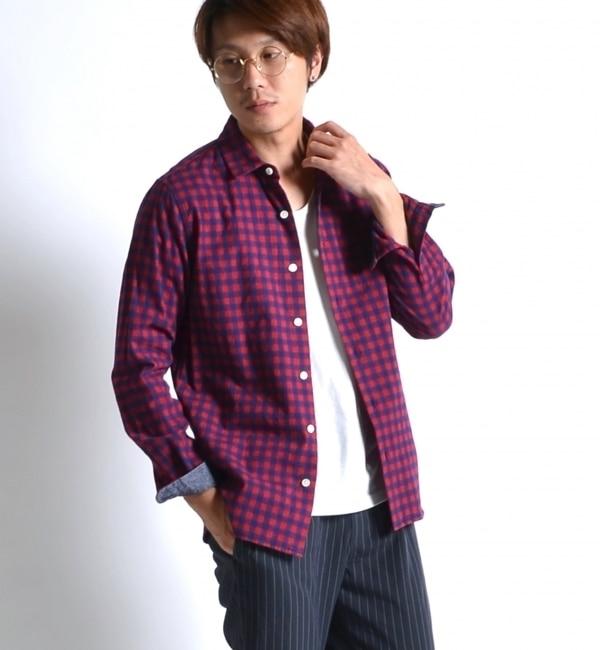【シップス/SHIPS】 SHIPS JET BLUE: コンフォートパターンチェックシャツ [送料無料]