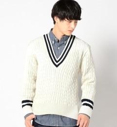 【シップス/SHIPS】 Balmoral Knitwear: ウォッシャブル ウール クリケット セーター [送料無料]