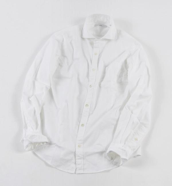 【シップス/SHIPS】 SC: 17SS ドビー織り ロンドンストライプ セミワイドカラー シャツ [送料無料]