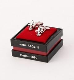 【シップス/SHIPS】 LOUIS FAGLIN: シルバー フルール・ド・リス カフリンクス [送料無料]