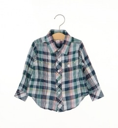 【シップス/SHIPS】SHIPSKIDS:シャーリングチェックシャツ(80?90cm)[送料無料]
