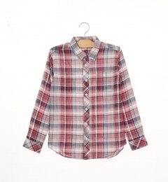 【シップス/SHIPS】SHIPSKIDS:シャーリングチェックシャツ(145?160cm)[送料無料]