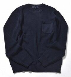【シップス/SHIPS】 SHIPS JET BLUE: HITWIST ポケットクルーネックニット [送料無料]
