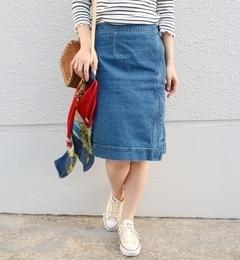 【シップス/SHIPS】 Khaju:ラップデニムスカート [送料無料]
